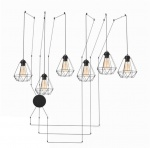Lampa industrialna Edison Cable black Diamond 6
