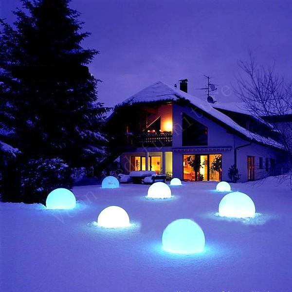 świecące Kule Ogrodowe światło Białe